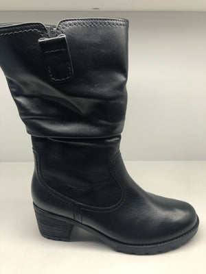 Gabor 72.802.57 Ladies Black Leather Calf Length Boot