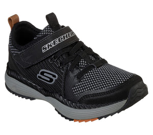 Skechers 98131L Black/Grey Power Drift Boys Trainers - elevate your sole