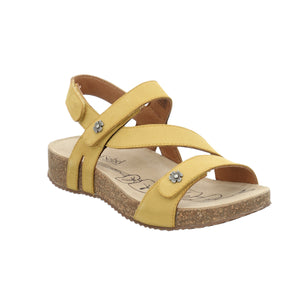 Josef Seibel Tonga 53 Safran Yellow Strap Sandals - elevate your sole