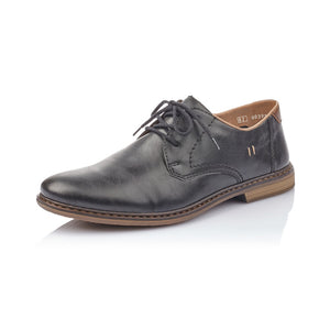 Rieker 13444-00 Black Lace Up Formal Dress Shoes