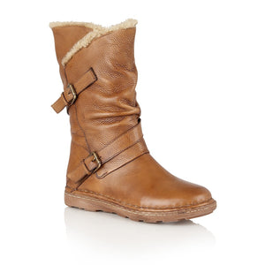Lotus Jolanda Tan Leather Calf Length Boots - elevate your sole