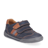 Start-Rite SeeSaw 1725-9 Boys Navy Nubuck Rip Tape Fastening Shoes - elevate your sole