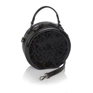 Ruby Shoo Alberta Ladies Black Velvet Circle Handbag