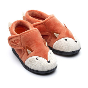 Chipmunk Mr Fox Childrens Rust Slippers