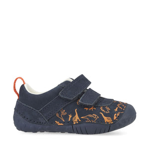 Start-Rite Roar 0767-9 Boys Navy Nubuck Pre Walkers