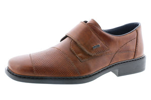 Rieker B0857-24 Mens Wide Brown Leather Dress Shoes - elevate your sole