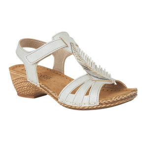 Lotus Melinda Blue Hook and Loop Strap Ladies Sandal
