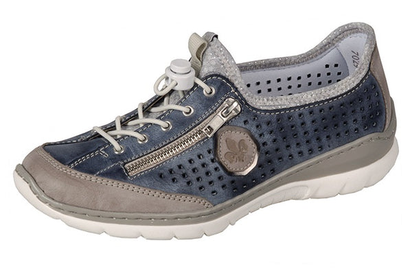 Rieker L3296-42 Navy Slip On Walking Shoes