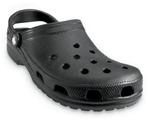 Crocs Classic 10001 Unisex Black Roomy Fit Clog