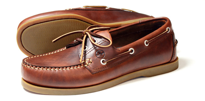 Orca Bay Creek Mens Saddle Smooth Leather Deck Shoes - elevate your sole
