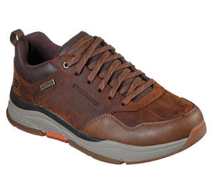 Skechers 210021 Bengao Hombre Mens Brown Waterproof Lace Up Shoes