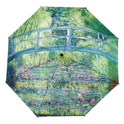 Galleria Monet Japanese Bridge Folding Brolly - elevate your sole