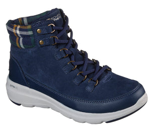 Skechers 144152 Glacial Ultra-Peak Ladies Navy Suede Lace Up Boot