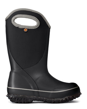 Bogs K Slushie Solid Kids Black Waterproof Boots