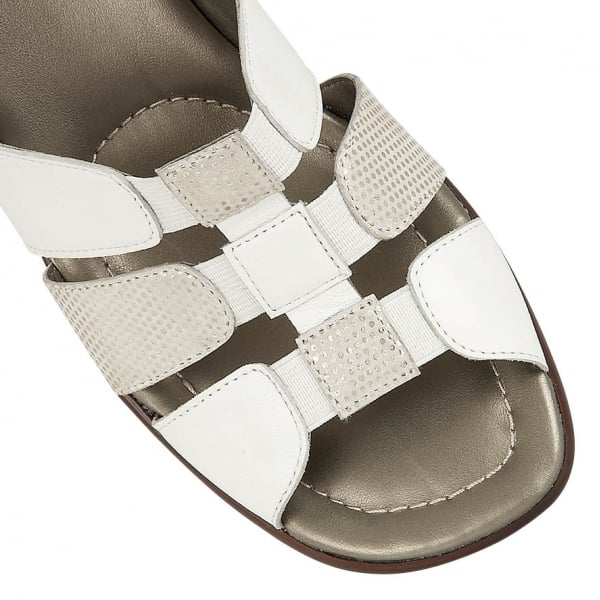 Lotus Lantic White Leather Sling Back Sandals - elevate your sole