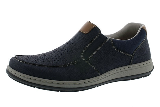 Rieker 17375-14 Mens Navy Perforated Summer Shoes - elevate your sole
