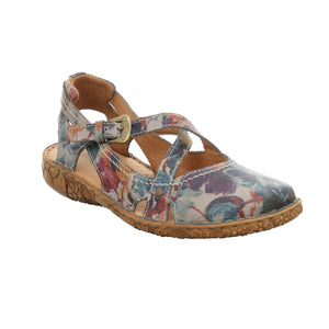 Josef Seibel Rosalie 13 Graphite Flower Multi Leather Walking Sandals - elevate your sole