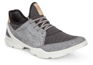 Ecco 841833 Titanium And Black Lace Up Casual Shoes
