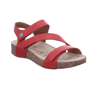Josef Seibel Tonga 25 Rot Red Leather Strapy Sandals - elevate your sole