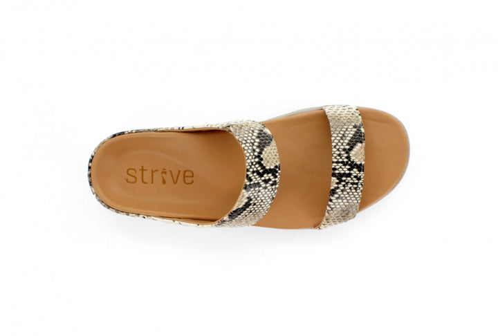 Strive Faro Snake Print Leather Sandals - elevate your sole
