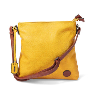 Rieker H1033-68 Ladies Amaretto Yellow Cross Body Shoulder Handbag
