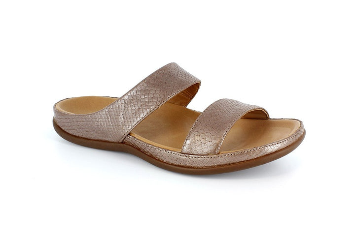 Strive Lombok Champagne Lizard Leather Sandal