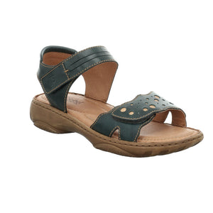Josef Seibel Debra 55 Ladies Aqua Blue Leather Sandals - elevate your sole