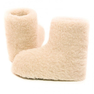 Yoko Boot Unisex White Wool Bootie Slippers