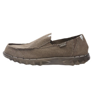 Dude Farty Classic Mens Chocolate Brown Slip On Shoes