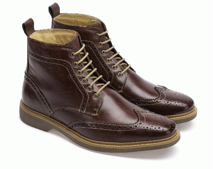 Anatomic Nova II Brown Leather Lace Up Boots - elevate your sole
