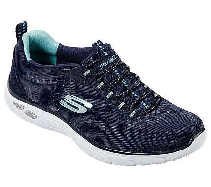 Skechers Ladies 12825 Empire Navy Blue Lace Trainers