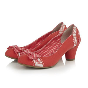 Ruby Shoo Hayley Coral Court Shoe - elevate your sole