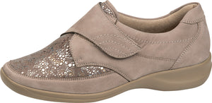 Waldlaufer M54306 206 970 Millu-S Beige Taupe Touch Fastening Shoes