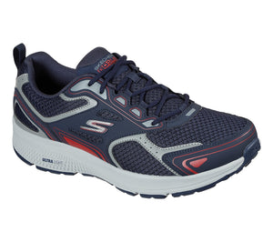 Skechers 220034 Go Run Consistent Mens Navy and Red Lace Up Trainers