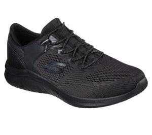 Skechers 232108 Ultra Flex 2.0 Kerlem Mens Black Slip On Trainers