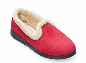 Padders Repose Red Ladies Wide Fit Slippers