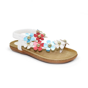 Lunar Primrose Girls White Sandals