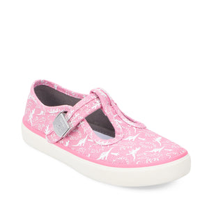 Start-Rite Fossil 6181_6 Girls Pink Dino Canvas Shoes