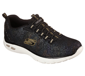 Skechers 149271 Empire D'Lux Charming Grace Ladies Black Multi Slip On Shoe