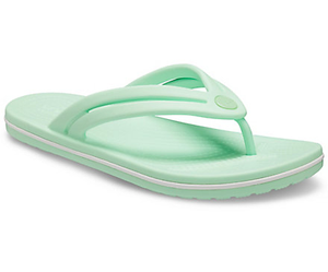 Crocs Crocband Flip Ladies Neo Mint Toe Post Sandals