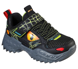 Skechers 402235L Skech-O-Saurus Boys Black Lime Trainers