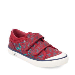 Start-Rite Zoom 6188_1 Red Aeroplane Print Canvas Shoes