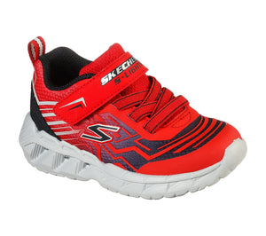 Skechers 401500N Magna Lights Bozler Boys Red Black Trainers