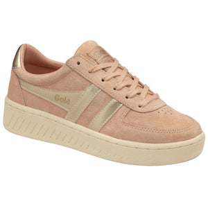Gola Grandslam Pearl Ladies Pearl Pink Lace Up Trainers