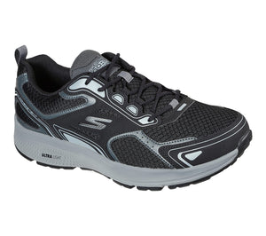 Skechers 220034 Go Run Consistent Mens Black and Grey Lace Up Trainers