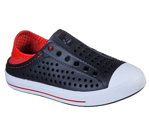 Skechers 91995L Guzman Stepz Boys Black and Red Slip On Shoes