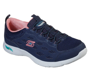 Skechers 104090 Arch Fit Refine Ladies Navy And Coral Shoe