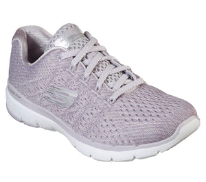 Skechers 13064 Flex Appeal 3.0 Satellites Ladies Lavender Lace Up Trainers