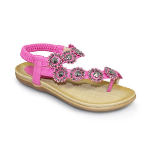Lunar Charlotte Girls Fuschia Sandals
