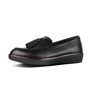 Fitflop Q66-001 Petrina Ladies Black Leather Moccasin